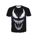 Venom Popular 3D Pattern Crewneck Short Sleeve Sport Casual T-Shirt