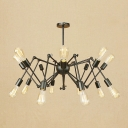 Abstract Chandelier Post Modern Metallic Multi Light Hanging Light for Coffee Shop