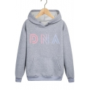 Fashion ARMY Kpop DNA Letter Print Cotton Loose Fit Hoodie