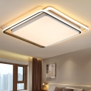 Square Shape LED Ceiling Light with Acrylic Shade Nordic Concise Flush Mount in Warm/White