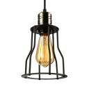 1 Light Hanging Ceiling LED Mini Pendant with Metal Cage