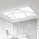 White Rectangular LED Lighting Fixture Modernism Minimalist Acrylic Flush Mount for Living Room