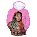 American Rapper 3D Figure Printed Long Sleeve Casual Loose Unisex Hoodie