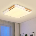 Square Shade LED Ceiling Lamp Modern Fashion Acrylic LED Lighting Fixture in Warm/White