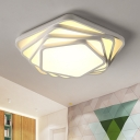 Multi-Layer Pentagon Ceiling Lamp Modern Design Acrylic LED Flush Light Fixture in Warm/White