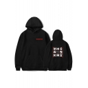 Unique Hip Hop Kpop Boy Group Letter Logo Streetwear Unisex Casual Relaxed Hoodie