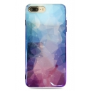 Cool Ombre Blue and Purple Galaxy Soft Mobile Phone Case for iPhone