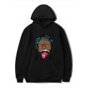 American Rapper Funny Portrait Long Sleeve Souvenir Hoodie