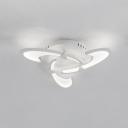 Modernism Windmill Design Ceiling Lamp Acrylic 3/6 Heads LED Semi Flush Light in White/Warm/Neutral