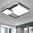 Blocks Style Lighting Fixture Minimalist Acrylic Flush Mount in Integrated LED for Living Room