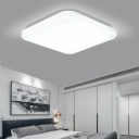 Square LED Flush Light Minimalist Acrylic Lampshade Ceiling Fixture in White for Foyer