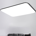 Black Ultra Thin Rectangle Flushmount Modernism Acrylic LED Ceiling Lamp for Corridor