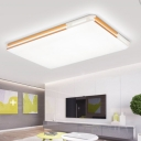 Warm/White Rectangle Ceiling Fixture Simplicity Concise Acrylic Ultra Thin LED Flush Light