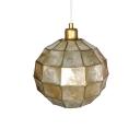 Shelly Globe Pendant Lamp Modern 1 Light Suspended Light in Brass Finish for Staircase