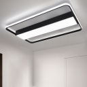 Black Border Ceiling Flush Modern Design Ambient LED Ceiling Fixture in Third Gear for Office