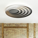 Modern Chic Ripple Ceiling Light with Ring Silicon Gel Art Deco LED Flush Light in Second Gear