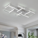 White Bar LED Lighting Fixture Nordic Style Metallic Art Deco Ceiling Light for Coffee Shop