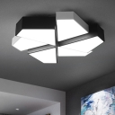 Polygon Flush Mount Light with Acrylic Shade Nordic Style LED Ceiling Fixture in Warm/White