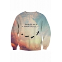 Funny Letter FUCK THIS WORLD I'M GOING TO NEVERLAND Long Sleeve Unisex Graphic Sweatshirt