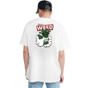 New Stylish Letter ENJOY WEED Summer Cotton Loose Fit Graphic T-Shirt