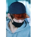 Stylish Sheer PVC Patched Sun Baseball Cap