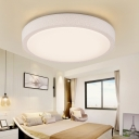 Contemporary Bowl LED Flush Mount with Crack Pattern Acrylic Ceiling Light in Warm/White