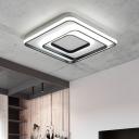 Black Border LED Flush Mount Contemporary Aluminum Decorative Indoor Lighting Fixture