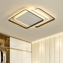 Black Border LED Lighting Fixture Minimalist Modern Metallic Ceiling Lamp for Dinning Room
