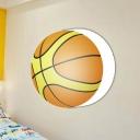 Basketball 1 Light Wall Mount Fixture Metal Wall Mount Light for Game Room Boys Room