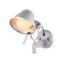 Single Light Adorable Silver Color Wall Lamp