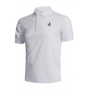 Men's Summer Basic Short Sleeve Sport Casual Loose Fit Logo Polo