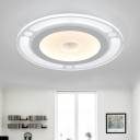 Acrylic Round Disc Shade Ceiling Light Simple Concise Ultrathin LED Flushmount in Warm/White
