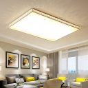 Crystal LED Ceiling Fixture with Rectangle Shape Modern Design Ceiling Flush Mount in Warm/White