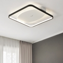 Black Border Ceiling Lamp Minimalist Silicon Gel LED Surface Mount Ceiling Light for Bedroom