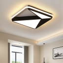 Modern Fashion Square Frame Ceiling Light with Acrylic Triangle Shade LED Flush Mount in Warm/White