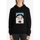 Funny Cartoon Character Letter I AM COOL Pattern Sport Casual Hoodie