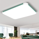 Acrylic Ultra Thin Flush Mount with Rectangle Nordic Macaron LED Ceiling Light for Sitting Room