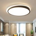 Round Ceiling Flush Mount with Acrylic Shade Stylish Modern LED Flush Light in Black and White