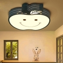 Acrylic Shade Ceiling Light with White/Blue Apple Shape LED Flush Light for Nursing Room