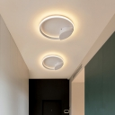 Minimalist Circle Lighting Fixture Metal LED Flush Mount in Warm/White/Neutral for Corridor Bedroom