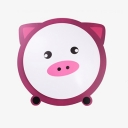 Blue Cat/Pink Pig Flush Mount Kindergarten Nursing Room Acrylic LED Ceiling Light