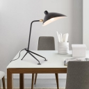Modern Duckbill Standing Desk Light with Tripod Rotatable Metallic 1 Head Table Lamp in Black