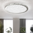 Crystal Round LED Flush Mount Luxury Modern Flush Ceiling Light in Warm/White for Restaurant