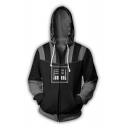 Star Wars Darth Vader Cosplay Costume 3D Print Black Zip Up Hoodie