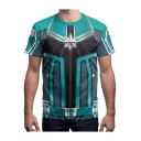 Captain Marvel 3D Cool Print Cosplay Costume Comic Blue T-Shirt