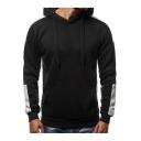 Patchwork Long Sleeve Men's Warm Thick Regular Fit Sport Hoodie