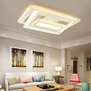 Eye Protection Ultra Thin LED Ceiling Flush Contemporary Acrylic Ceiling Lamp for Living Room