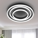 Acrylic Circular Ceiling Lamp Nordic Style LED Flushmount in Warm/White for Living Room