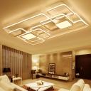 Metallic Blocks Flushmount Simplicity 8 Lights LED Ceiling Fixture in Warm/White/Neutral