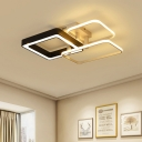 Modern Chic Geometric Flush Mount Silicon Gel 3/4 Lights LED Ceiling Fixture in Neutral